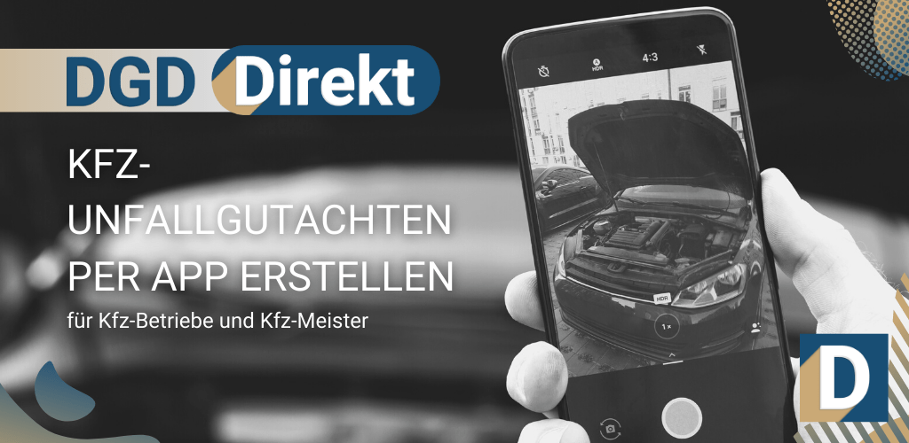 DGD Direkt Kfz Unfallgutachten per App erstellen